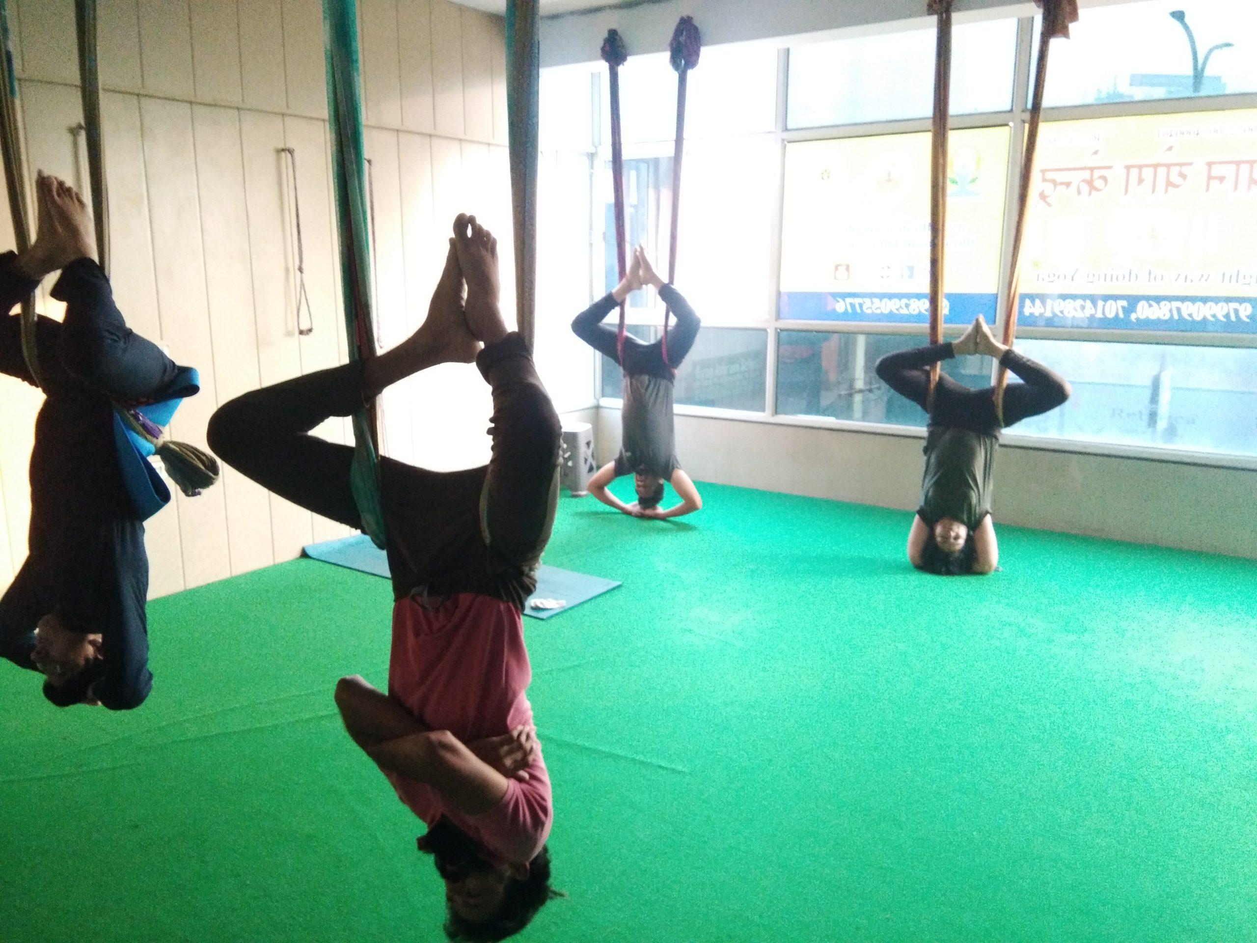 Aerial yoga -Shreesh Asan
